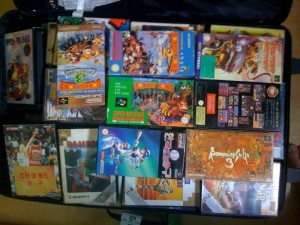 Games in suitcase